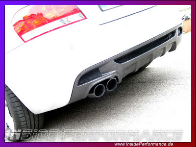 1 series BMW E82/E88 2-Tip/1-Tip Rear Diffusor fully-Carbon