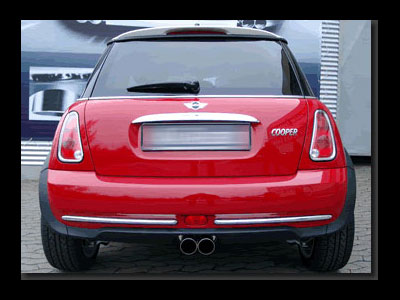 MINI 2-Tip Sport Exhaust centered
