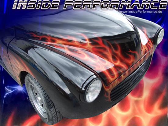 Pinstriping / Airbrush / Lackierung Morris Flames