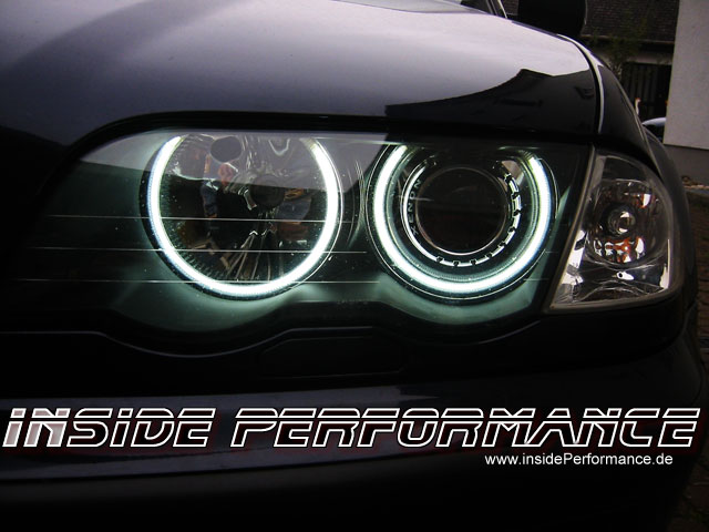 bmw e46 mit xenon standlichtringe angel eyes. Black Bedroom Furniture Sets. Home Design Ideas