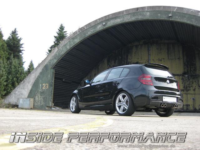 BMW E81 /E87 M1-Look Auspuffanlage 4-Rohr quad exhaust - insidePerformance