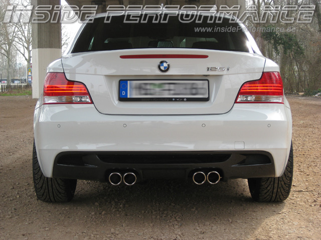 BMW E82 /E88 M1-Look Auspuffanlage 4-Rohr quad exhaust - insidePerformance