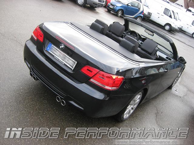 BMW 330i E93 M3-Look Endschalldämpfer - custom quad exhaust