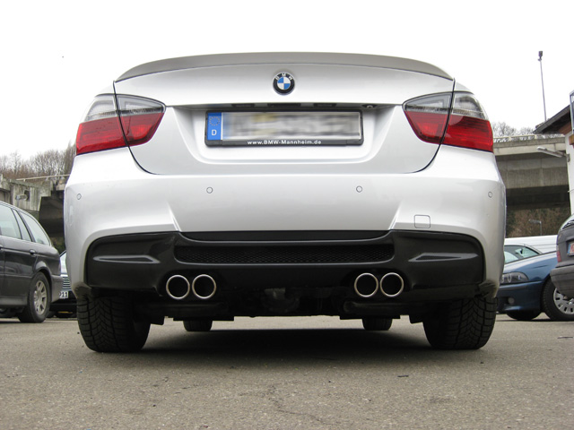 3 series bmw e90 e91 e92 e93 4 tip m3 look quad custom exhaust. Black Bedroom Furniture Sets. Home Design Ideas
