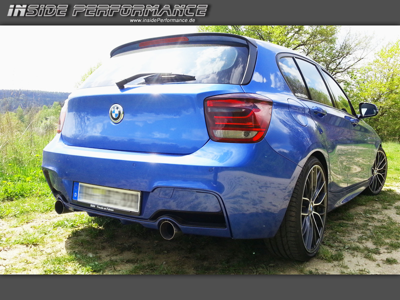 1 series bmw f20 f21 2x1 tip m135i look custom exhaust. Black Bedroom Furniture Sets. Home Design Ideas