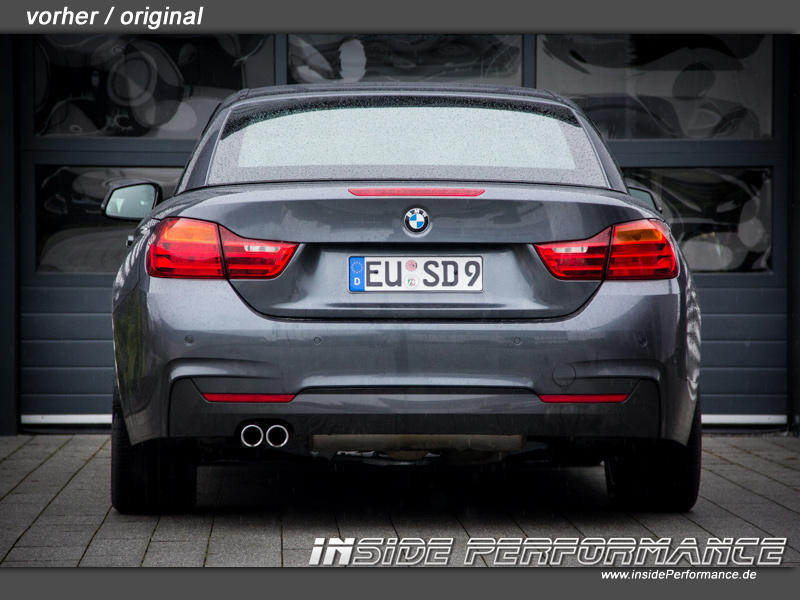BMW 428I Convertible >> Stainless Steal Exhaust for 4 series BMW F32 / F33 - 2x1-Tip Performance-Look