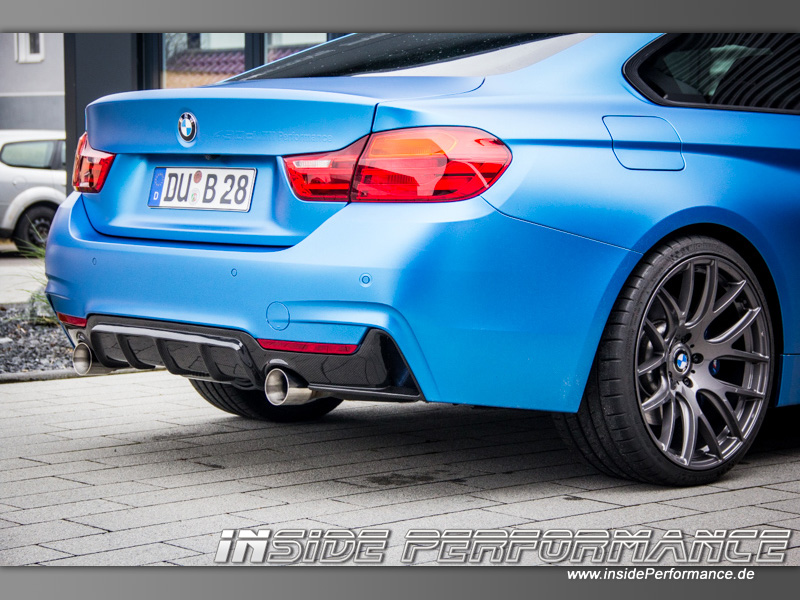 4 series bmw f36 gran coupe 435i performance rear diffusor carbon. Black Bedroom Furniture Sets. Home Design Ideas