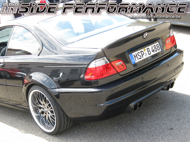 3er bmw e46 alle modelle 4 rohr m3 csl look anlage. Black Bedroom Furniture Sets. Home Design Ideas