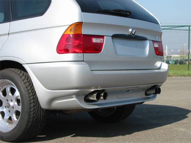 Edelstahl Sport Endschalldämpfer (ESD) - BMW X5 4-Rohr