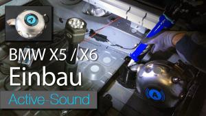 Einbau Video Active Sound F15 F16 BMW X5 X6