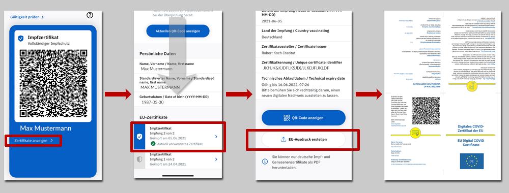Anleitung CovPass App Download Impfzertifikat