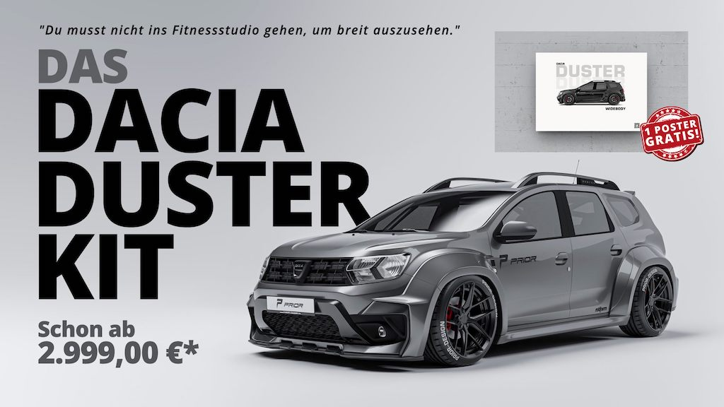 Low-Budget-Tuning: Breitbau für Dacia Duster von Prior Design