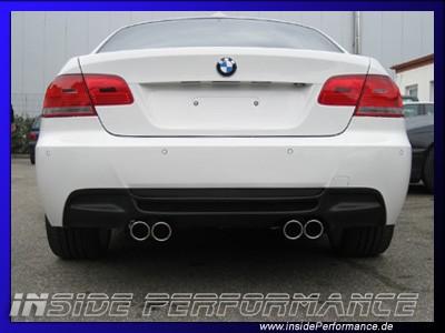 Heckblende / Diffusor für 3er BMW E92/E93 im Performance-Look - Kunststoff