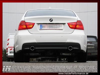 Sportauspuff für 3er BMW E90/E91/E92/E93 (außer 335) 2x1-Rohr im Performance-Look
