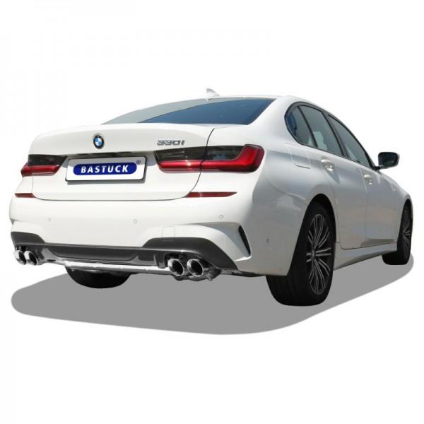 Klappenauspuff für 3er BMW G20 / G21 4-Rohr - Sportauspuff AGA