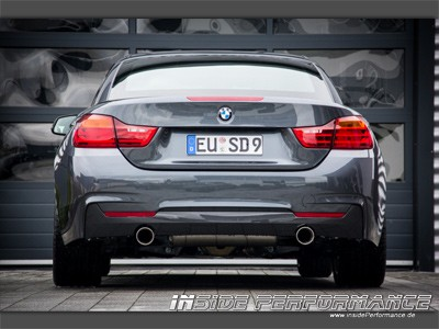Sportauspuff für 4er BMW F32 / F33 2x1-Rohr im Performance-Look