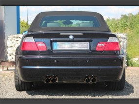 3er BMW E46 M3 4-Rohr Auspuffanlage