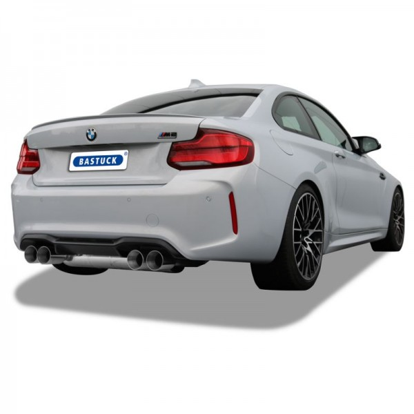 Stainless Steel Exhaust with flap-control / valve for BMW M2 Competition