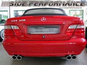 Mercedes-Benz CLK 208 4-Rohr Auspuff