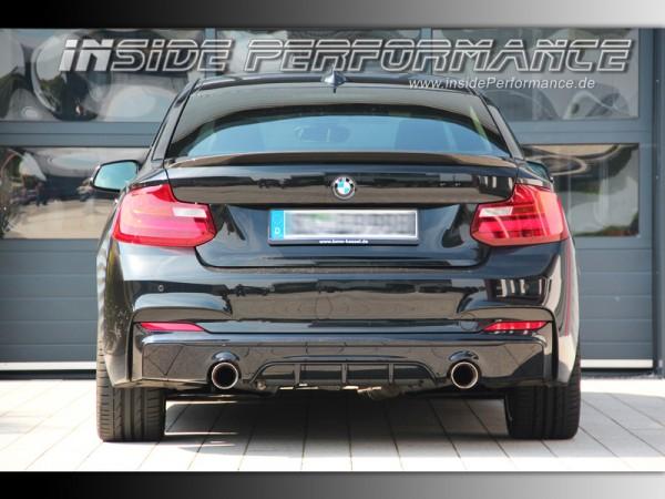 Sportauspuff für 2er BMW F22 / F23 2x1-Rohr im Performance-Look