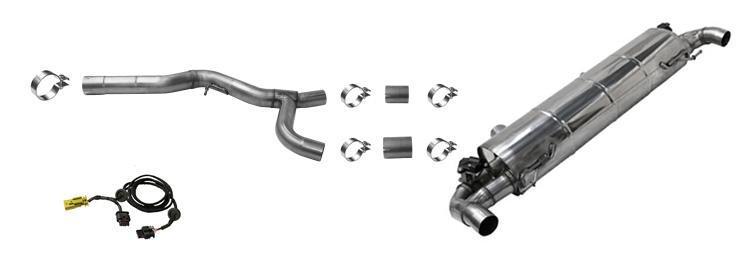 Klappenauspuff-BMW-G20-G21-330i-320i-Komplettanlage-f-r-M340i-Endrohre-Komponenten