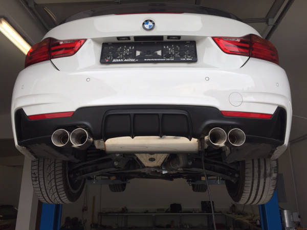 Heckblende / Diffusor für 4er BMW F32/F33/F36 in Performance-Optik