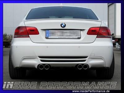 Sportauspuff für 3er BMW E90/E91/E92/E93 4-Rohr im Performance-Look