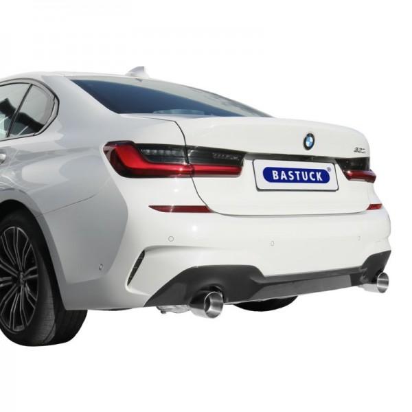 Klappenauspuff für 3er BMW G20 / G21 2x1-Rohr - Sportauspuff AGA