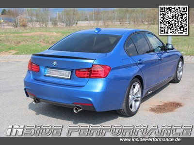 Stainless Steel Exhaust for 3 series BMW F30 / F31 - 2x1-pipe (opt. with valve / flap-control)