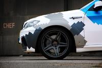 BMW X6M Stealth mit Jet - Camouflage US Army